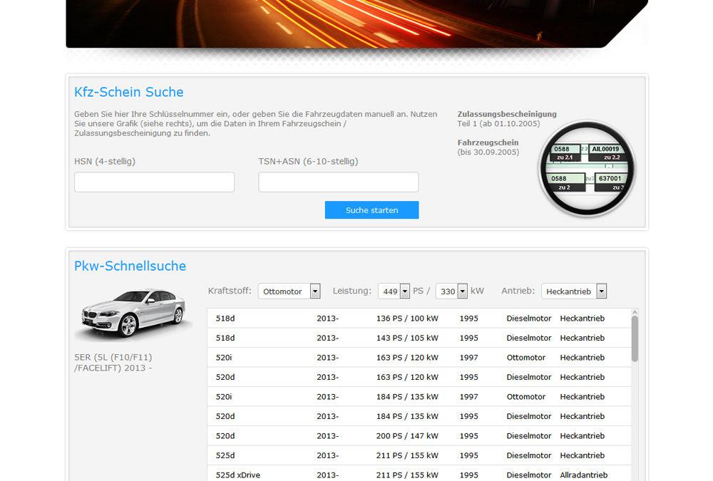 Screenshot vom BRV Konfigurator