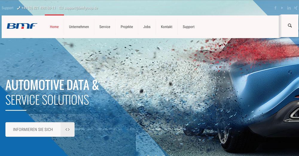 Screenshot der BMF Website