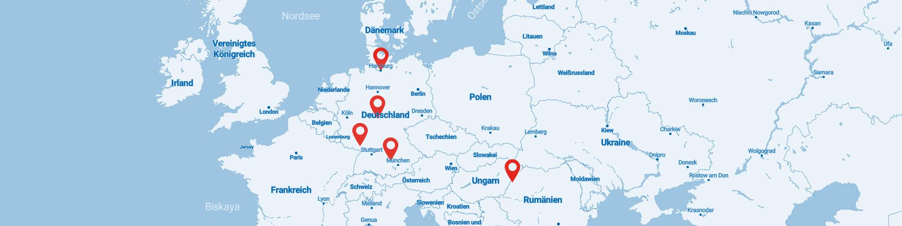 Karte mit Standorten